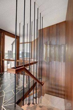 mid century wood stair railing - חיפוש ב-Google