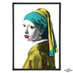 Museum Girl with Pearl Earring after Vermeer  Copyright © 2015 - Art & Hue ™ · All Rights Reserved