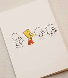 The Simpsons Printed Cover Notebook Sketchbook by PapergeekMY, $7.50