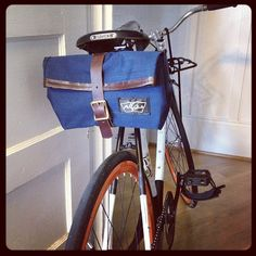 The Satchel: a Bicycle Seat and Shoulder Bag. $75.00, via Etsy.