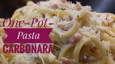 One Pot Pasta - Spaghetti Carbonara - Rezept aus der Kinderkueche