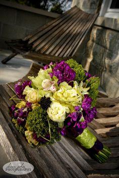 Green & Purple bouquet