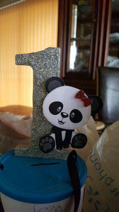 Diy panda bear cake topper
