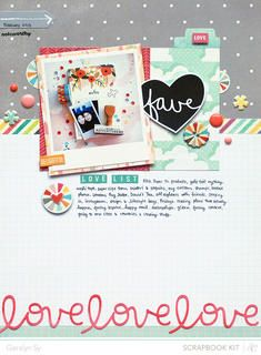 #scrapbook #layout
