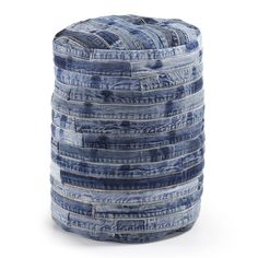 Pouf Willow jeans patchwork