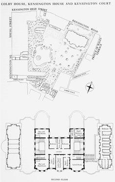1873 76 kensington house london built by baron albert for Kensington house plan