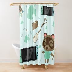 Animal Crossing, Nintendo Switch, Curtains, Shower, Printed, Awesome, Interior, Products, Art