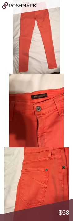 """James """"Twiggy"""" coral jeans size 29 James 