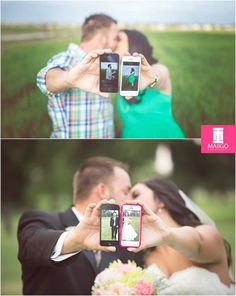 Cute idea. Engagement to marriage!   Photo credit: MAIIGO Photography based out of Lawton, OK.  Image from Facebook.com/maiigophotography