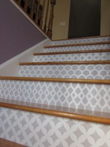 DIY home decor help - From small to easy decorating help to simulate that dream decor. cheap home decor diy stairs post status posted on 20190311 Stenciled Stairs, Painted Stair Risers, Painted Staircases, Deco Studio, Small Space Interior Design, Diy Home Improvement, Cozy House, Stairways, My Dream Home