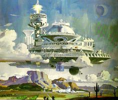 Flying City in Arizona by Robert McCall  #FlyingCity  #FutureCity  RobertMcCall
