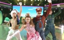 Sadie Robertson and Mark Ballas perform a video game inspired performance on Dancing With The Stars