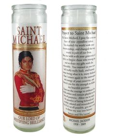 Hey, I found this really awesome Etsy listing at https://www.etsy.com/listing/59686715/saint-michael-jackson-prayer-candle