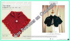 Delicadezas en crochet Gabriela: Mini chal y capa tejida en ganchillo