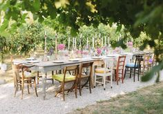 Bohemian wedding anniversary party | Real Weddings and Parties | 100 Layer Cake rustic outdoor picnic in orchard