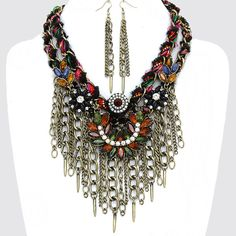 PWB0424 - Bohemian fringe necklace - $37.99 : Shop Trendy Jewelry and Accessories, Peeny Wallie Boutique