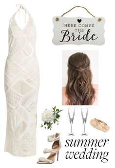 """""""Here comes the bride"""" by kotnourka ❤ liked on Polyvore featuring Anjuna, New View, Waterford and StyleRocks"""