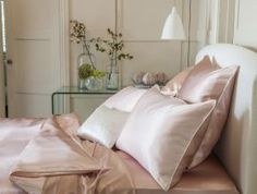 Gingerlily Rosa/Rosewater 100 per cent A Grade Mulberry silk bed linen (www.gingerlily.co.uk)