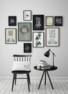 Embelezar paredes da casa com quadros e fotografias