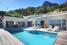 What do I love most about this Clifton Property of mine? The bedroom overlooking the pool and the ocean...