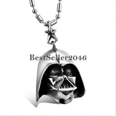 Star Wars Darth Vader Maske Anhänger Edelstahl Damen Herren Halskette Schmuck