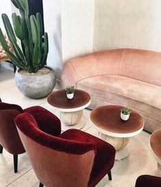 burgundy velvet armchairs