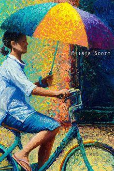 Finger Paintings by Iris Scott