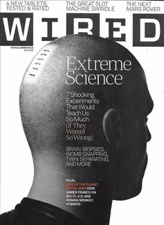 Wired magazine Extreme science James Franco Slot machines Next Mars rover