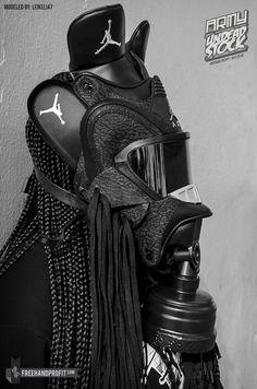 leikeli47 - gas mask from jordan 3s