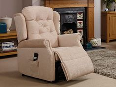 Hickory rise and recliner chair - Choose a rise and recline chair from our Hickory Collection and enjoy a combination of expert construction and traditional aesthetics. The Hickory offers elegant arms, a deep-buttoned back cushion, and attractive wings. Recliner Chairs, Oak Tree, Arms, Aesthetics, Wings, Cushions, Construction, Deep, Traditional