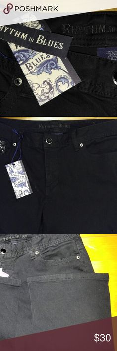 Rythm and Blues Black Jeans NWT 14 short These are classic black jeans with inside pocketvdesign and button front Special size 14 short rhythmn and blues Jeans Boot Cut