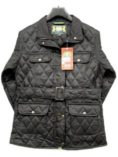 Hunter Outdoor Barey Fitted Jacket - Black Fitted shape Two lower front pockets Central Belt Made in