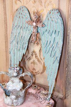 Metal angel wings distressed angel wings by Mediterranea Design Studio www.MediterraneaDesignStudio.com