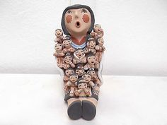 LARGE-Hand-Coiled-Jemez-Pueblo-Pottery-Native-Indian-Storyteller-by-Emily-Tsosie