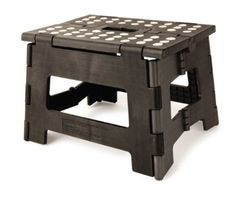 Amazon.com: Kikkerland Rhino Easy Fold Step Stool, Short, Black: Home Improvement