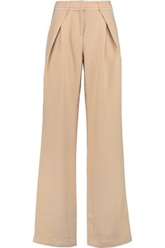 SELF-PORTRAIT BRUSHED-TWILL WIDE-LEG PANTS £63.25 http://www.theoutnet.com/products/767695