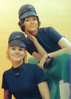 Vintage Finnair cabin crew photo