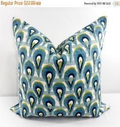 PILLOW SALE. Pillow cover. 22x22 Designer by TwistedBobbinDesigns