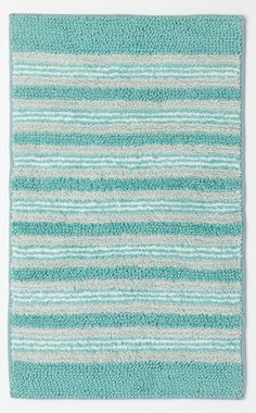 Oceanside Striped Bath Rug | Everything Turquoise