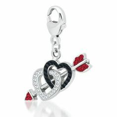 Expressions for Helzberg® Double Heart Arrow Charm - Occasions Charms - Expressions Beads - Collections - Categories - Helzberg Diamonds
