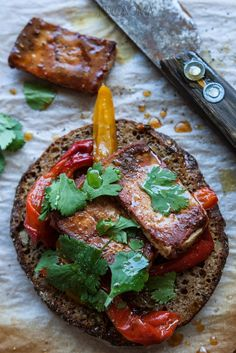 jadłonomia · roślinne przepisy: Piwne tofu z chili