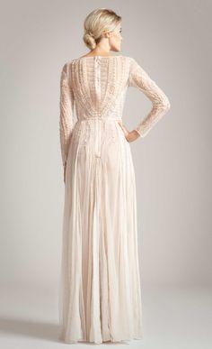 Temperley london Long Christa Dress in Beige | Lyst