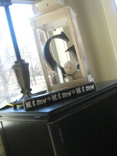 letter in lantern...such a cute idea!! This would be so cute either in the hallway with some wedding stuff or even in your home after the wedding so you can always have a piece from your wedding!!!!  don't you just love it?!?!  I DO! I DO!!!!! @Rachel R Babula