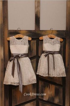 Ivory Lace Flower girl Dress Baby Girl Dress with Sash in Orange/Brown/Blue/Lavender/Red/Gray Lace Flower Girls, Lace Flowers, Flower Girl Dresses Beach, Baby Girl Dresses, Baby Dress, Toddler Dress, Wedding Attire, Wedding Dresses, Lace Dresses