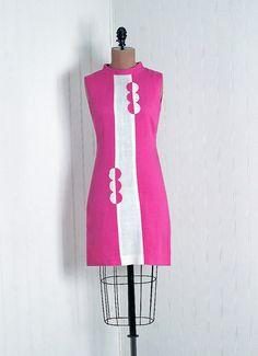 1960's op-art dress