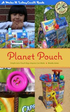 Free Kindle Book For A Limited Time : Planet Pouch: Simple Juice Pouch Bags Anyone Can Make - Keep dozens of juice pouches out of the landfill with these cute bag ideas. More than just a pattern book, Planet Pouch includes detailed, full-color (on supported devices) step-by-step instructions for creating three durable, colorful bags you can use to carry everything from towels to school supplies to tomorrow's lunch. Upcycle those old juice pouches with style!Bags you'll be able to make…