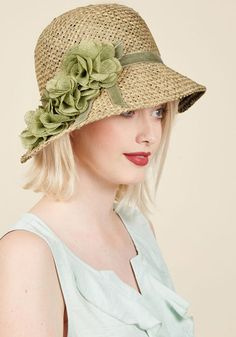 Edwardian Style Hats, Titanic Hats, Derby Hats Pure Edith Hat in Green $44.99 AT vintagedancer.com