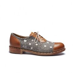 Mr. Dotty in nutmeg is a hand-sewn leather oxford shoe from The Office of Angela Scott Fall 2013