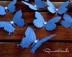 Farfalle di cartoncino colorato in rilievo by Romanticards, by Romanticards e…