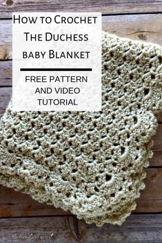 This pattern is amazing! It looks great with either border option and the video tutorial guides you every step of the way with this free crochet pattern. This pattern is amazing! It looks great with either border option and th Crochet Baby Blanket Free Pattern, Crochet Baby Toys, Baby Afghan Crochet, Manta Crochet, Afghan Crochet Patterns, Baby Patterns, Free Crochet, Baby Afghans, Crochet Ideas